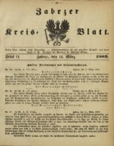 Zabrzer Kreis-Blatt, 1889, St. 11