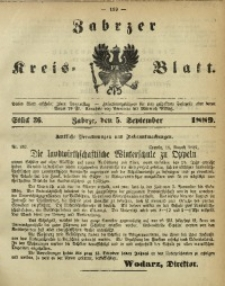 Zabrzer Kreis-Blatt, 1889, St. 36