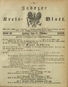 Zabrzer Kreis-Blatt, 1889, St. 42
