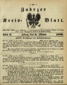 Zabrzer Kreis-Blatt, 1889, St. 43