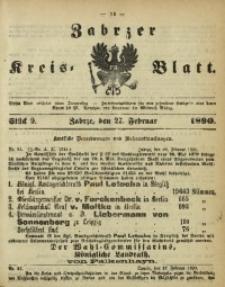Zabrzer Kreis-Blatt, 1890, St. 9