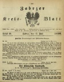 Zabrzer Kreis-Blatt, 1890, St. 29