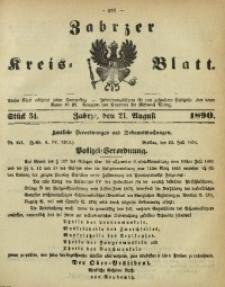 Zabrzer Kreis-Blatt, 1890, St. 34