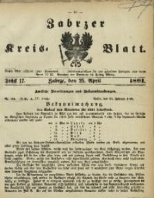 Zabrzer Kreis-Blatt, 1891, St. 17