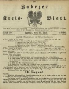 Zabrzer Kreis-Blatt, 1891, St. 29