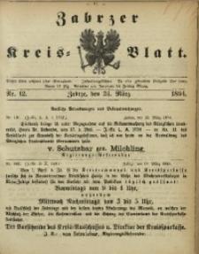 Zabrzer Kreis-Blatt, 1894, Nr. 12