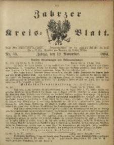 Zabrzer Kreis-Blatt, 1894, Nr. 45