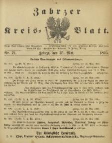 Zabrzer Kreis-Blatt, 1895, Nr. 21