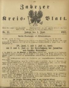 Zabrzer Kreis-Blatt, 1895, Nr. 22