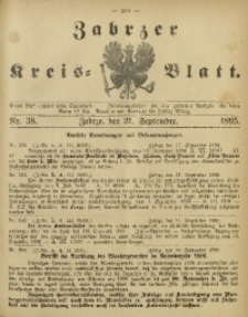Zabrzer Kreis-Blatt, 1895, Nr. 38