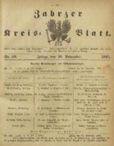 Zabrzer Kreis-Blatt, 1895, Nr. 48