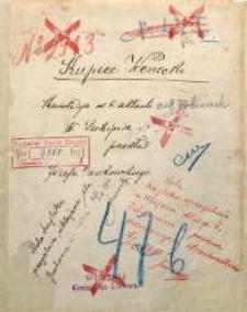 Kupiec wenecki. Komedya w 5. aktach a 8miu obrazach W. Szekspira, przekład Józefa Paszkowskiego