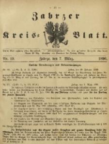 Zabrzer Kreis-Blatt, 1896, Nr. 10