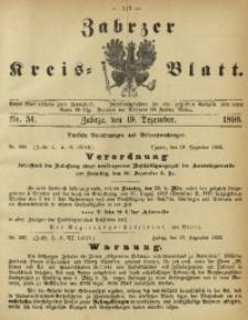 Zabrzer Kreis-Blatt, 1896, Nr. 51