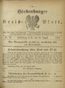 Hindenburger Kreis-Blatt, 1918, Nr. 35