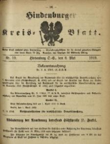 Hindenburger Kreis-Blatt, 1919, Nr. 19