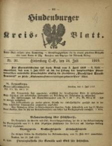 Hindenburger Kreis-Blatt, 1919, Nr. 30