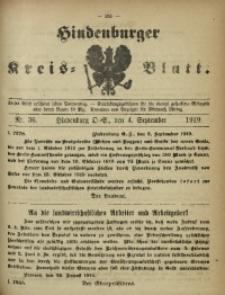 Hindenburger Kreis-Blatt, 1919, Nr. 36