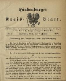 Hindenburger Kreis-Blatt, 1920, Nr. 2