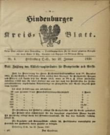 Hindenburger Kreis-Blatt, 1920, Nr. 4