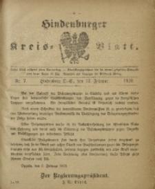 Hindenburger Kreis-Blatt, 1920, Nr. 7