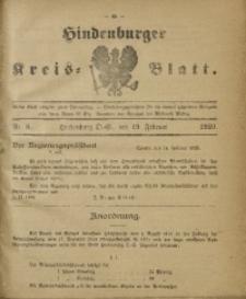 Hindenburger Kreis-Blatt, 1920, Nr. 8