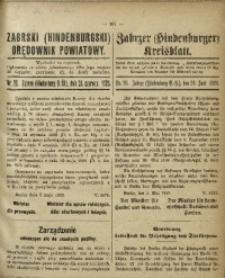 Zabrski (Hindenburgski) Orędownik Powiatowy, 1920, nr 26
