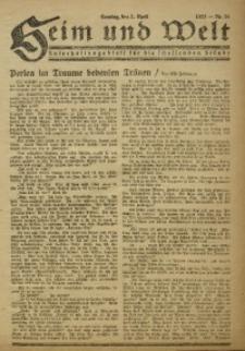 Heim und Welt, 1922, [Jg. 7], Nr. 14