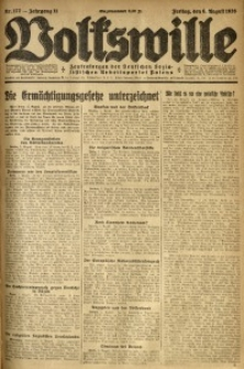 Volkswille, 1926, Jg. 11, Nr. 177