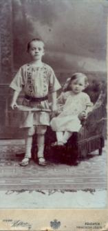 Kołomyja. Rodzeństwo Bronisław i Zofia Krupa (Kulińska), około 1911 r.