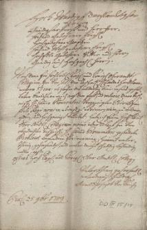 Opinia oraz uwagi śląskiego Nadfiskała Arnolda Josepha von Knichen na temat prawa do warzenia piwa przez cieszyńską szlachtę, przesłana przed 25.11.1709 Urzędowi Zwierzchniemu we Wrocławiu