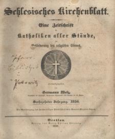 Schlesisches Kirchenblatt, 1850, Jg. 16, Inhalts-Verzeihniss