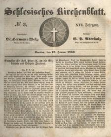 Schlesisches Kirchenblatt, 1850, Jg. 16, nr 3