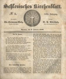 Schlesisches Kirchenblatt, 1850, Jg. 16, nr 5
