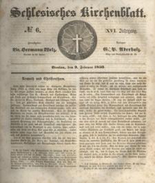 Schlesisches Kirchenblatt, 1850, Jg. 16, nr 6