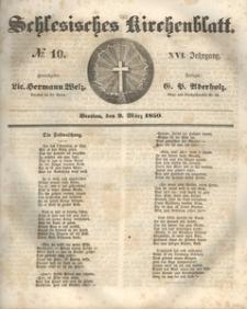 Schlesisches Kirchenblatt, 1850, Jg. 16, nr 10