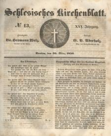 Schlesisches Kirchenblatt, 1850, Jg. 16, nr 13
