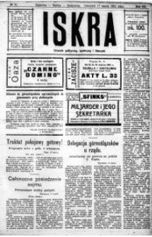 Iskra. Dziennik polityczny, społeczny i literacki, 1921, R. 12, nr 21