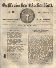 Schlesisches Kirchenblatt, 1850, Jg. 16, nr 19