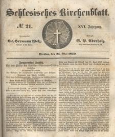 Schlesisches Kirchenblatt, 1850, Jg. 16, nr 21