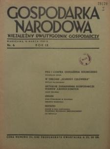 Gospodarka Narodowa, 1939, R. 9, nr 6