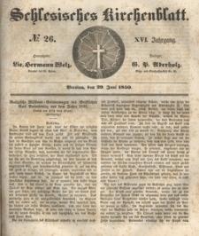 Schlesisches Kirchenblatt, 1850, Jg. 16, nr 26