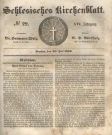 Schlesisches Kirchenblatt, 1850, Jg. 16, nr 29