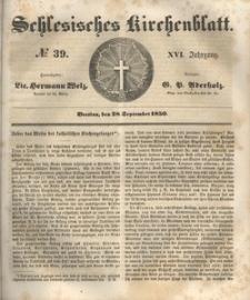 Schlesisches Kirchenblatt, 1850, Jg. 16, nr 39