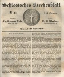 Schlesisches Kirchenblatt, 1850, Jg. 16, nr 42
