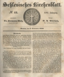 Schlesisches Kirchenblatt, 1850, Jg. 16, nr 44