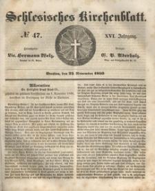 Schlesisches Kirchenblatt, 1850, Jg. 16, nr 47