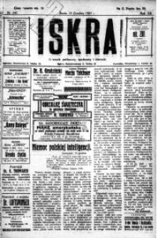 Iskra. Dziennik polityczny, społeczny i literacki, 1921, R. 12, nr 241