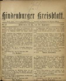Hindenburger Kreisblatt, 1923, Nr. 27