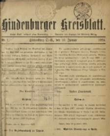 Hindenburger Kreisblatt, 1924, Nr. 1